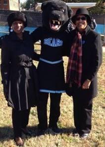 Sarah, Blue Bear Mascot and Mel