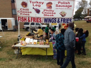 One of many food vendors